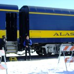 Historic Alaska Depot Winter Aurora Train April 13, 2013