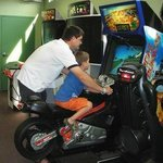 Enjoy arcade games in air conditioned comfort