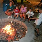 End a great day of camping with a community s'more roast