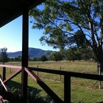 view from the back verandah, just a stunning location