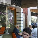 The Pantry on Egmont outside dining on the Train line