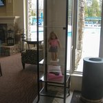 American Girl doll in lobby