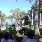 The wedding at Sanctuary Lakes