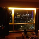  the view from room 1056 at night