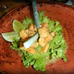  Salmon Ceviche with mustard sauce.