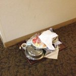 This was in the hall Sunday when I checked in, remained there until Tuesday afternoon