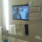  Bathroom featuring TV in the mirror.