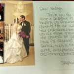Thank you card from Bride & Groom