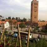 view the central mosk from the hotel's restaurant