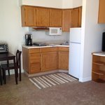Fully stocked kitchenette with full sized refrigerators