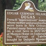 Historic marker in front of the house