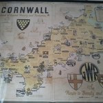 Cornwall map from nearby SVR Highley station waiting room