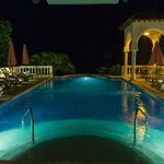  The adults pool at night