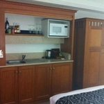  Mini bar, microwave and tv in cabinet