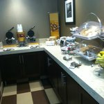 Free Continental Breakfast - this is just half of what was there!