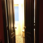 theatrical bathroom doors