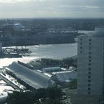 Beautiful view from our room overlooking Darling Harbour.