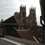 the view of York Minster from our room