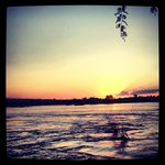 Sunset on the banks of the Zambezi