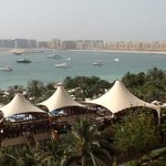 looking over towards the Jumeirah palm in the foreground the 'canopies' are over the bussola twi
