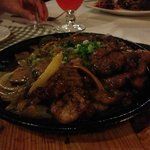 traditional sizzling platter