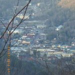  This is the view of downtown Gatlinburg from our cabin.