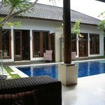 Our villa with our pool!