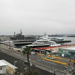 View from room balcony toward U.S.S. Midway memorial