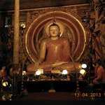  The Buddha in comtemplation at the Gangaramaya Temple, Colombo