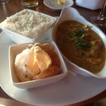 Really spicy korma, beautiful hotel