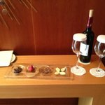 Amenity in entrance to suite