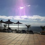 View of the sea from our sunbed pool