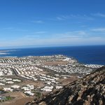 A view of Playa Blanca from the top of a near by volcano
