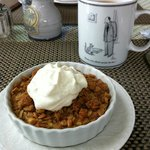  Fresh apple crisp with homemade whipped cream