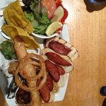 the taste it all platter abalone chorizo halloumi