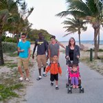  We took lots of island walks at night with our whole family.