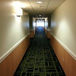 hallway to room.  2nd floor