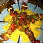  Lamb kabobs on couscous