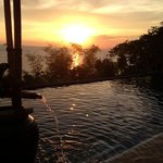  sunset by the infinity pool