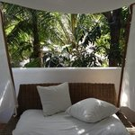 day bed at the balcony