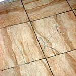  Unsafe cracked flooring