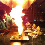 Tepenyaki Flame Show. Medium cooked Beef was great...