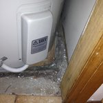 Hot water system that was in a cupboard in our room-filthy!