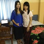  In my room at EH with my ex-colleague
