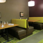  Booth seating in hotel restaurant