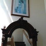  Hallway, I love this old mirror and photo of mother and child