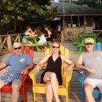 Hanging in the Adirondack chairs..