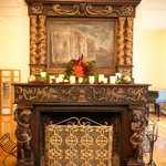  Our imported European fireplace and mantel