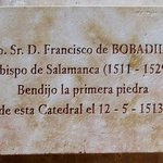Bishop Bobadilla (1511 - 1529), buried in the Cathedral