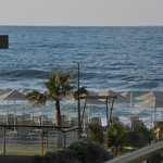 View from balcony Panos Beach Hotel